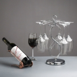 Circle Shaped Iron Inverted Wine Glass Holder Creative Home Living Room Bar Wine Holder