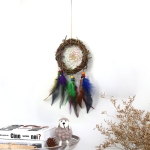 Weaving Vine Colorful Feather Dream Catcher Garden Air Hanging Home Accessories