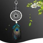 Handmade Peacock Hair Dream Catcher