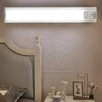 LED Light Control Human Body Sensing Long LED Night Light Charging Wardrobe Light Kitchen Corridor, Light color:Warm Light, Size:240mm