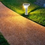 Outdoor Waterproof Light Control Induction Solar Garden Light, Dimensions: H340mm Square