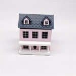 Dollhouse 1:12 Mini House Cute Pocket Villa(Pink )
