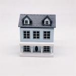 Dollhouse 1:12 Mini House Cute Pocket Villa(Blue )
