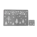 2 Packs Christmas Creative Print Placemat Coaster Decoration, Style:Christmas Tree(Gray)
