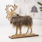 2 PCS Christmas Creative Home Wooden Felt Elk Decoration, Size:Medium