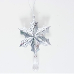 2 PCS Christmas Creative Hollowed Iron Pendant Accessories Scene Decoration(Leaf )