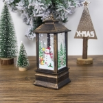 2 PCS Creative Christmas Transparent Painted Portable Wind Light Ornament(Bronze Snowman )