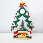 2 PCS Christmas Creative Christmas Tree Music Box Santa Claus Gift Music Box(Green )