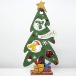 2 PCS Creative Christmas Painted Wooden Vintage Openwork Bell Decoration Christmas Tree Table Pendulum(Christmas Snowman )