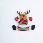 2 PCS Christmas Christmas Tree Fabric Little Doll Ornament Pendant(Christmas Elk )