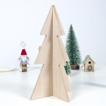 2 PCS Christmas Logs Spelled Into Christmas Tree Crafts Decorations, Specification: Large