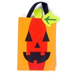 2 PCS Halloween Decoration Fabric Felt Portable Storage Bag Children Trick or Treat Sugar Candy Bag, Size: A Section of Yellow Pumpkin