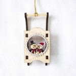 CP0761 2 PCS Christmas Decorations Santa Snowman Sleigh Christmas Tree Decoration Pendant(Snowman )
