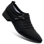 Men Fashion Pointed Toe Casual Breathable Office Work Shoes, Size:41(Black)