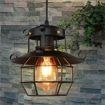 Retro Iron Cage Chandelier Personality Bar Cafe Decorative Light without Light Source