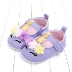Baby Girls PU Leather Shoes Soft Sole Crib First walkers Shoes, Size:11cm(Purple   )