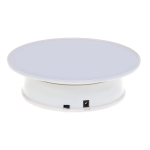 30cm 360 Degree Electric Rotating Turntable Display Stand Video Shooting Props Turntable for Photography, Max Load 4kg (White)