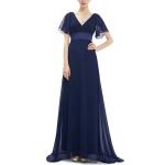 Evening Dresses Padded Trailing Flutter Summer Style Dresses, Size:M(Dark Blue)