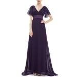 Evening Dresses Padded Trailing Flutter Summer Style Dresses, Size:XXL(Purple)