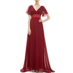 Evening Dresses Padded Trailing Flutter Summer Style Dresses, Size:XXXL(Red)