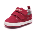 Infant Babies Shoes Sole Soft Canvas Solid Footwear Shoes, Size:11cm(Red)