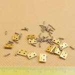 Dollhouse DIY Miniature Fitment Material Metal Hinges And Screws for Mini Door
