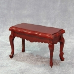 3 PCS 1/12 Toy House Miniature Furniture Wavy Side Wooden Coffee Table(Redwood)