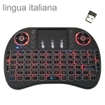 Support Language: Italy i8 Air Mouse Wireless Backlight Keyboard with Touchpad for Android TV Box & Smart TV & PC Tablet & Xbox360 & PS3 & HTPC/IPTV