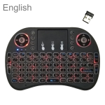 Support Language: English i8 Air Mouse Wireless Backlight Keyboard with Touchpad for Android TV Box & Smart TV & PC Tablet & Xbox360 & PS3 & HTPC/IPTV