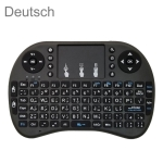 Support Language: German i8 Air Mouse Wireless Keyboard with Touchpad for Android TV Box & Smart TV & PC Tablet & Xbox360 & PS3 & HTPC/IPTV
