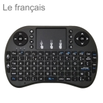 Support Language: French i8 Air Mouse Wireless Keyboard with Touchpad for Android TV Box & Smart TV & PC Tablet & Xbox360 & PS3 & HTPC/IPTV