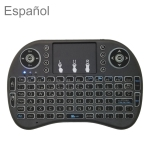 Support Language: Spanish i8 Air Mouse Wireless Keyboard with Touchpad for Android TV Box & Smart TV & PC Tablet & Xbox360 & PS3 & HTPC/IPTV
