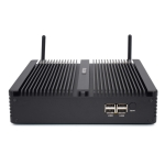 HYSTOU H5-I7-8550U Household Office Fanless Mini PC Intel Core i7-8550U Processor Quad Core up to 1.8GHz, RAM: 8G, ROM: 256G, Support Win 7 / 8 / 10 / Linux(Black)