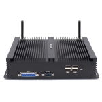 HYSTOU H4-I7-8550U Fanless Mini Industry PC Intel Core i7-8550U Processor Quad Core up to 1.8GHz, RAM: 8G, ROM: 256G, Support Win 7 / 8 / 10 / Linux (Black)