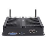 HYSTOU H4-I7-8550U Fanless Mini Industry PC Intel Core i7-8550U Processor Quad Core up to 1.8GHz, RAM: 16G, ROM: 256G, Support Win 7 / 8 / 10 / Linux (Black)