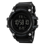 SKMEI 1384 Multifunctional Men Outdoor Fashion Noctilucent Waterproof LED Digital Watch (Black)