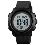 SKMEI 1426 Multifunctional Outdoor Fashion Noctilucent Waterproof White Machine Rubber Ring Digital Watch(Black)