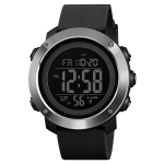 SKMEI 1416 Multifunctional Outdoor Fashion Noctilucent Waterproof Steel Ring Digital Watch (Black)