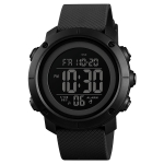SKMEI 1426 Multifunctional Outdoor Fashion Noctilucent Waterproof Black Machine Rubber Ring Digital Watch (Black)