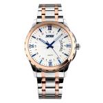 SKMEI 9069 Multifunctional Outdoor Fashion Business Waterproof Interval Gold Shell Quartz Wrist Watch(Blue)