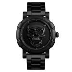 SKMEI 9178 Skull Pattern Multifunctional Outdoor Men Fashion Waterproof Quartz Wrist Watch (Black)