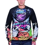 3D Printed Crew Neck Sweater for Men (Color:WY3002 Size:L)