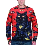 3D Printed Crew Neck Sweater for Men (Color:WY3006 Size:M)