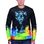 3D Printed Crew Neck Sweater for Men (Color:WY3007 Size:M)