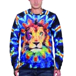 3D Printed Crew Neck Sweater for Men (Color:WY3015 Size:M)