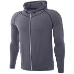 SIGETU Men Quick-dryingCasual Sports Coat (Color:Grey Size:L)