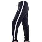 SIGETU Men Fashion Casual Sport Pants (Color:Black White Size:XXL)