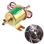 HEP-02A Universal Car 12V Fuel Pump Inline Low Pressure Electric Fuel Pump (Gold)