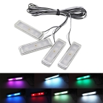 4 PCS Universal Car Colorful LED Inner Handle Light Atmosphere Lights Decorative Lamp DC12V / 0.5W Cable Length: 70cm (Colour)