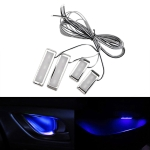 4 PCS Universal Car LED Inner Handle Light Atmosphere Lights Decorative Lamp DC12V / 0.5W Cable Length: 75cm (Blue Light)